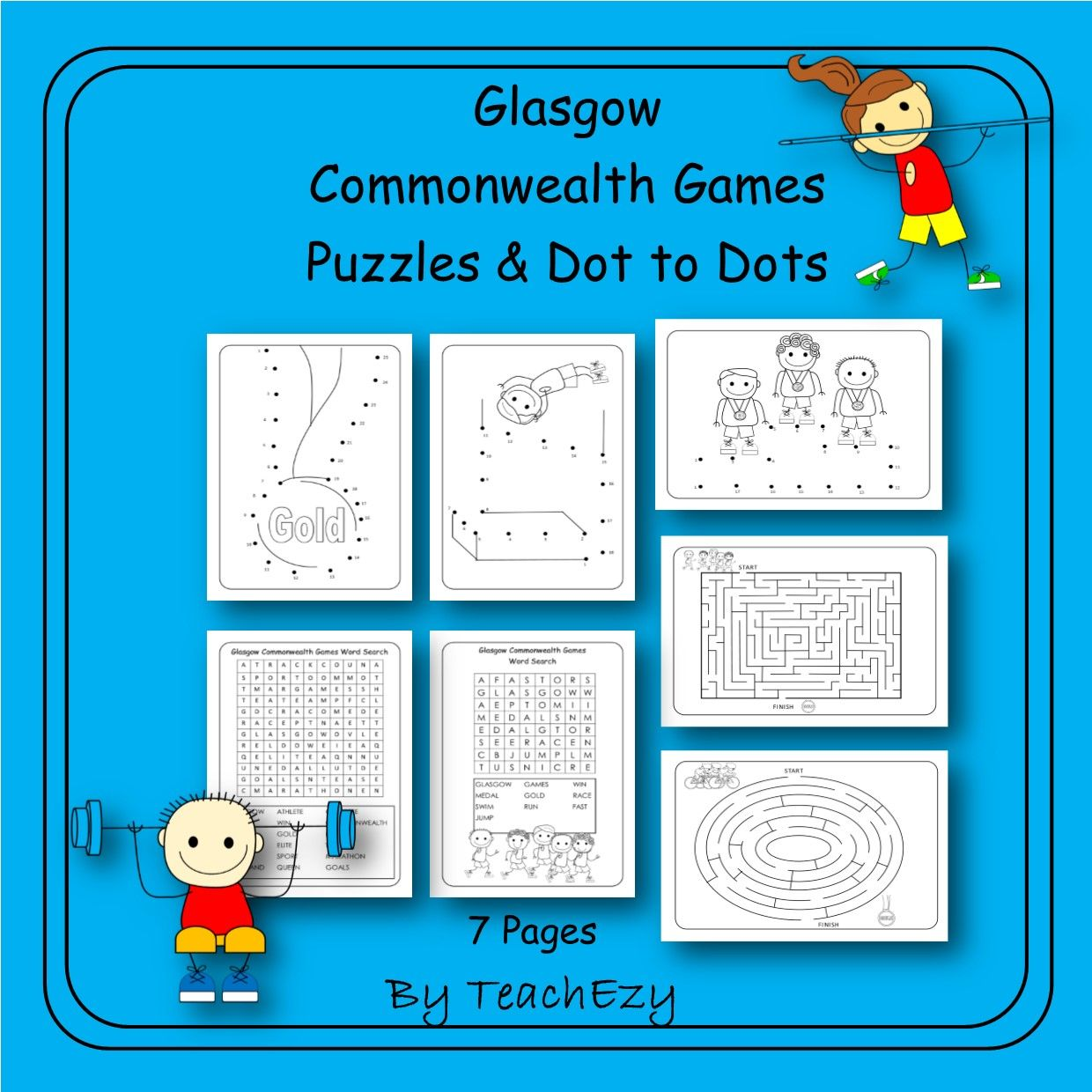 Commonwealth Games Puzzles and Dot to Dot   teaching stuff ...
