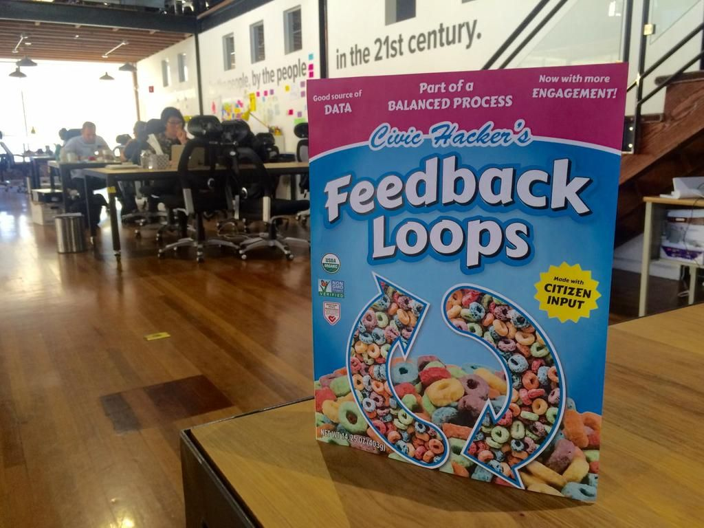What's a civic innovator's breakfast of choice? Feedback Loops. #cfasummit