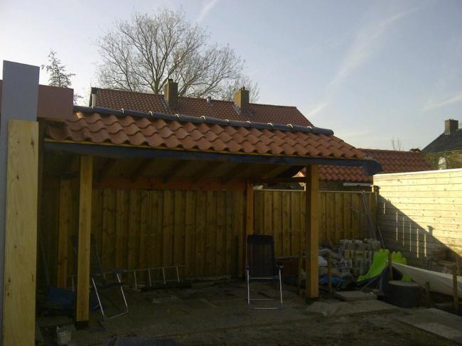 Afdak achtertuin leien dakpannen google zoeken idee n voor het huis pinterest - Veranda met dakpan ...