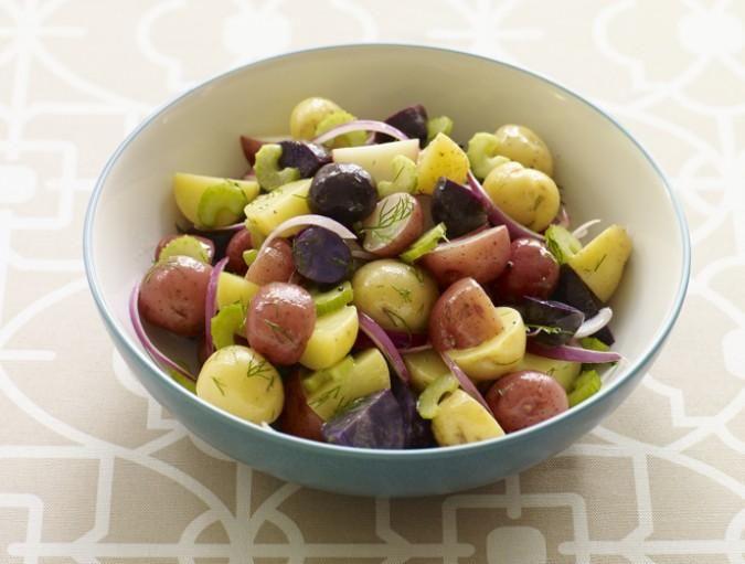 Red, white & blue potato salad! #recipe #food