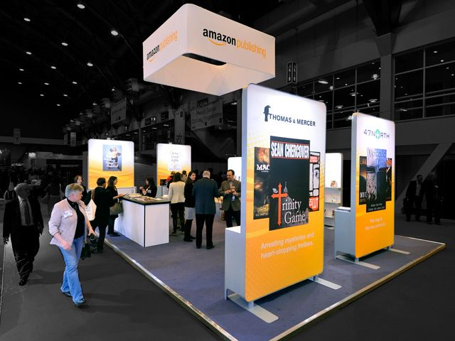 Exhibition Booth London : Exhibitionstand for amazon the london book fair