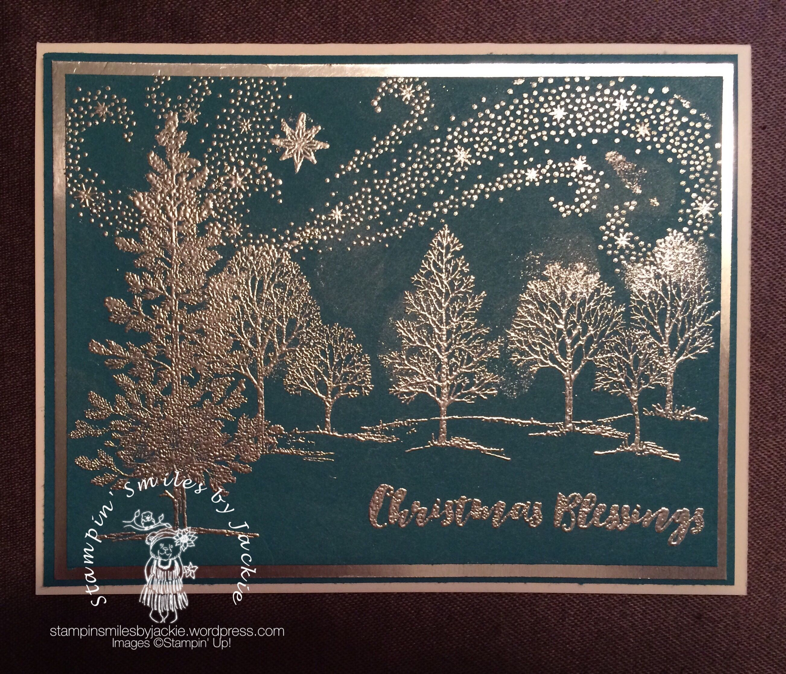 Silver Embossed card (With images) Homemade christmas