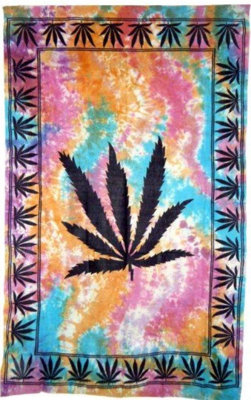 Hemp Leaf Tapestry by Hippiegyspy on Etsy