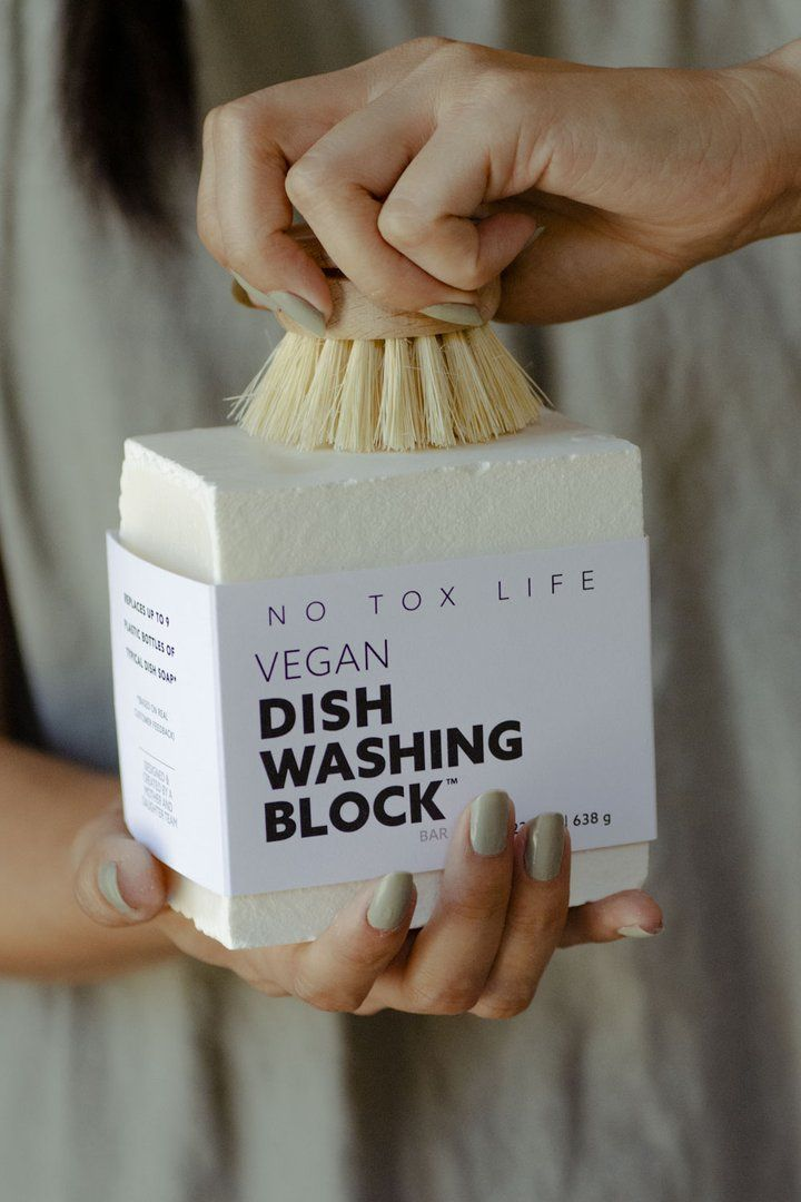 Dish Block® Zero Waste Dish Washing Bar HUGE #kitchentips