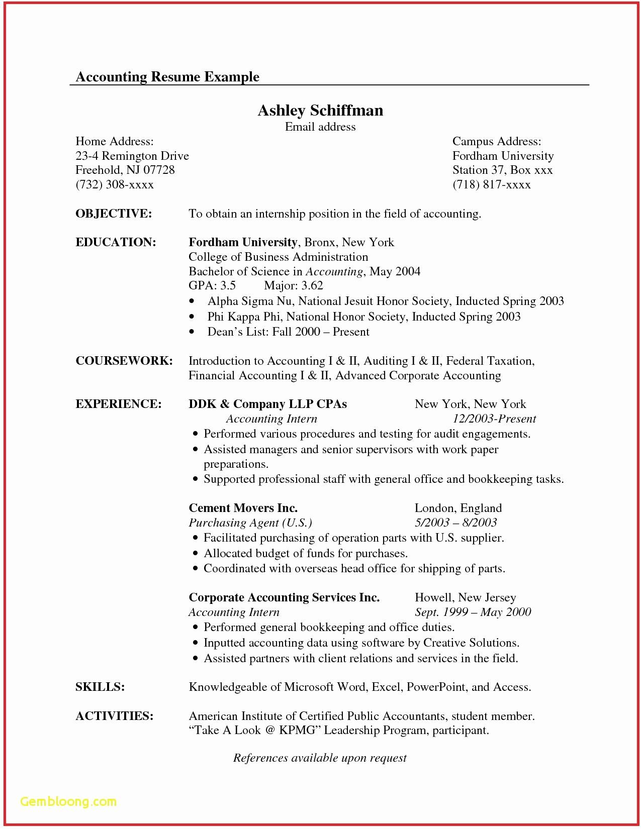 68 New Photos Of Business Accounting Resume Examples With Images