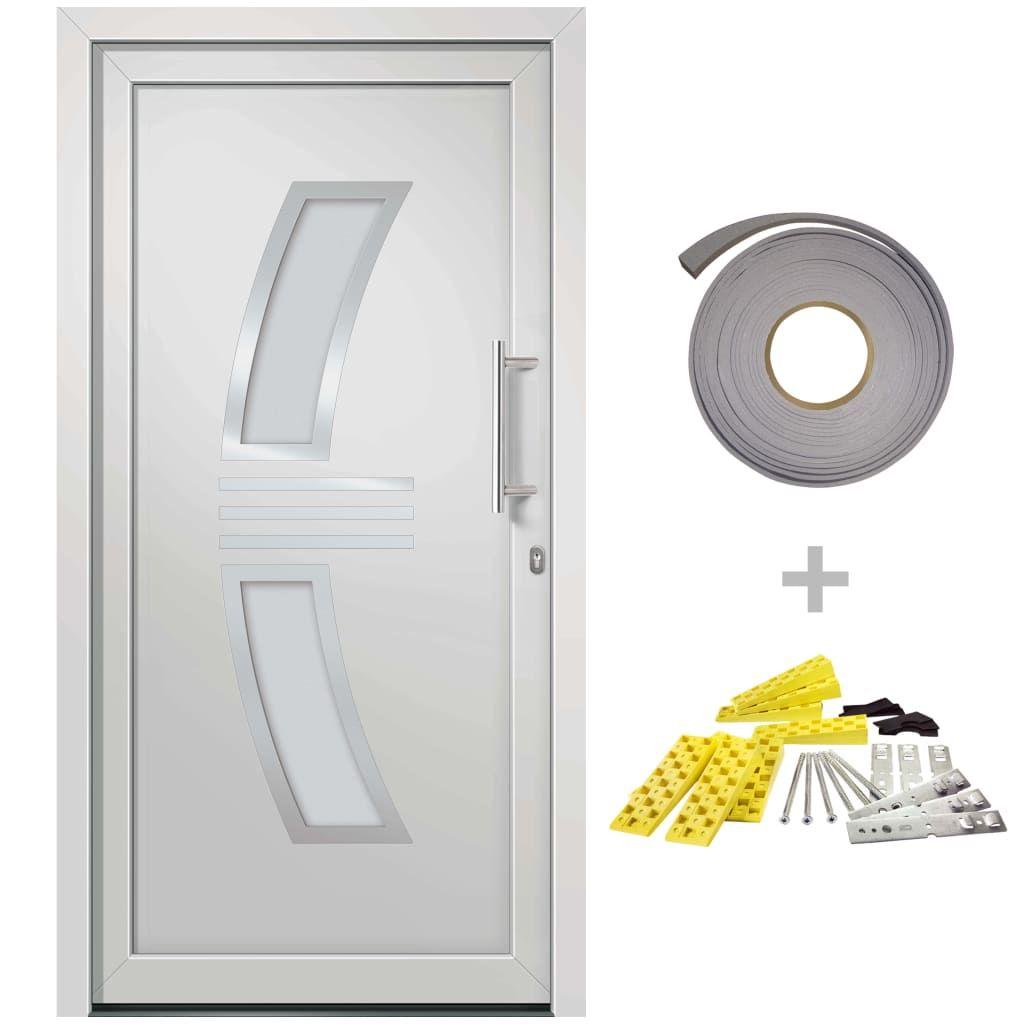 vidaXL Front Door White 98 x 208 cm