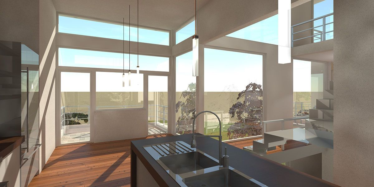 2 Bed Modern Home Plan with Rooftop Deck