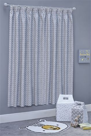 Little One Blackout Pencil Pleat Curtains From The Next
