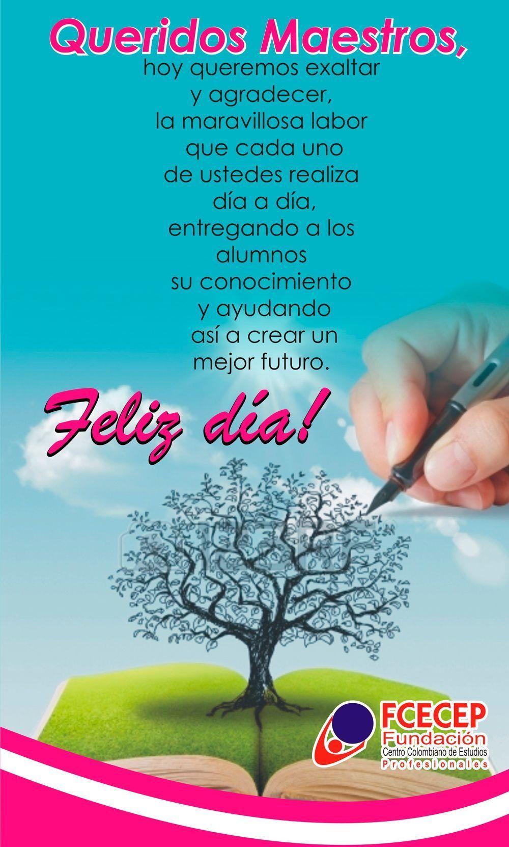 Feliz Día Del Maestro Fcecep Happy Birthday Ecard Teachers Day School Teacher Gifts