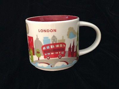 Details About Starbucks Coffee 14oz London England Mug Yah