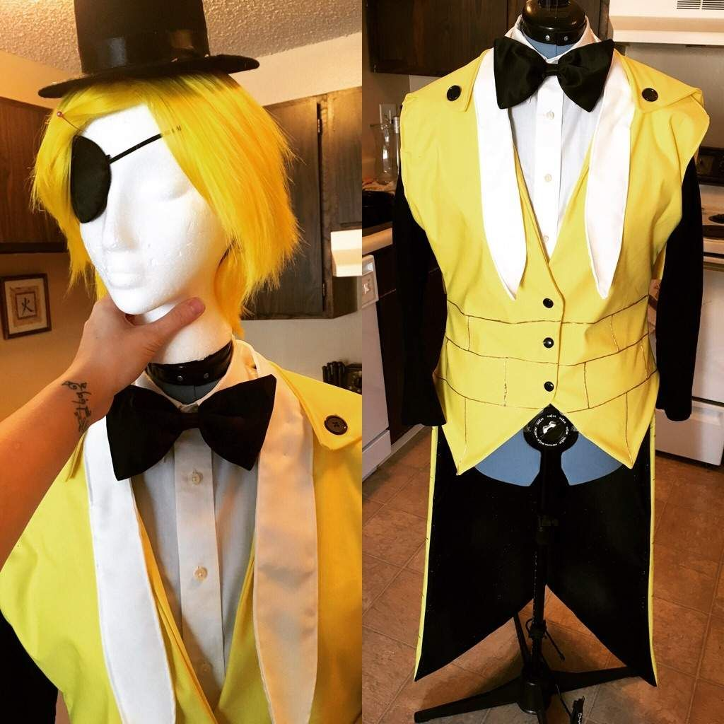 closet costume ideas halloween - bill cipher cosplay Google Search