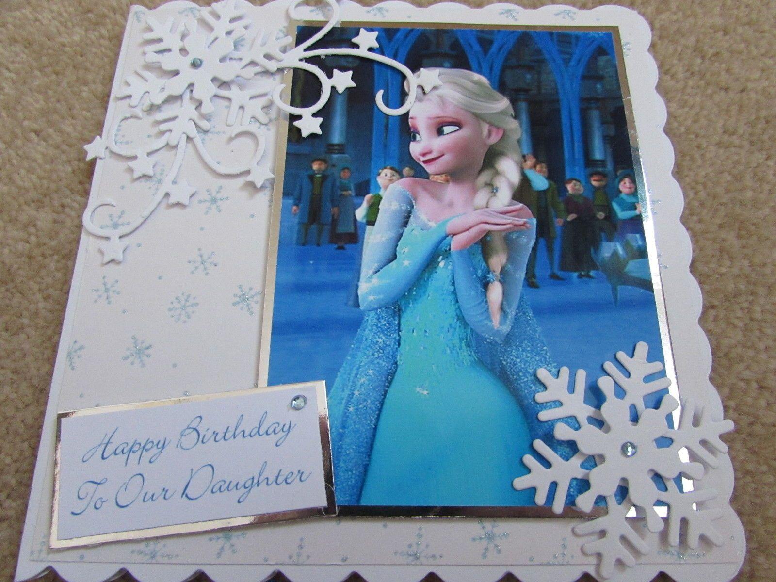 Frozen Elsa Handmade Daughter Birthday Card