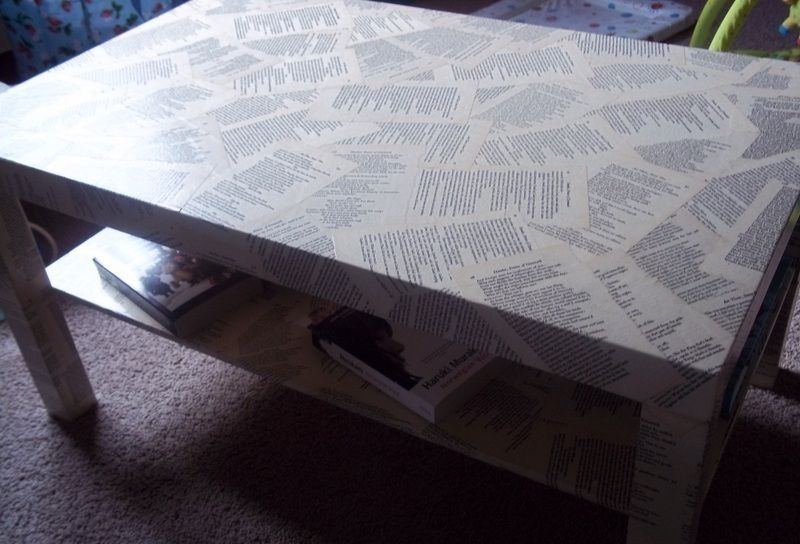 shakespeare decoupage coffee table | decoupage coffee table and