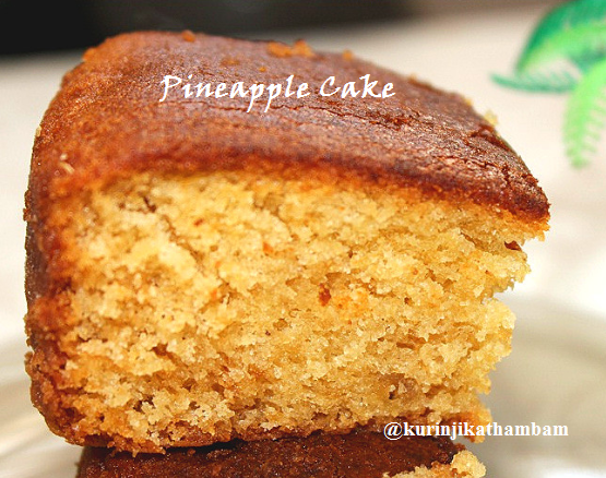 Eggless Pineapple Cake With Condensed Milk Condensed Milk Cake Eggless Pineapple Cake Pineapple Cake