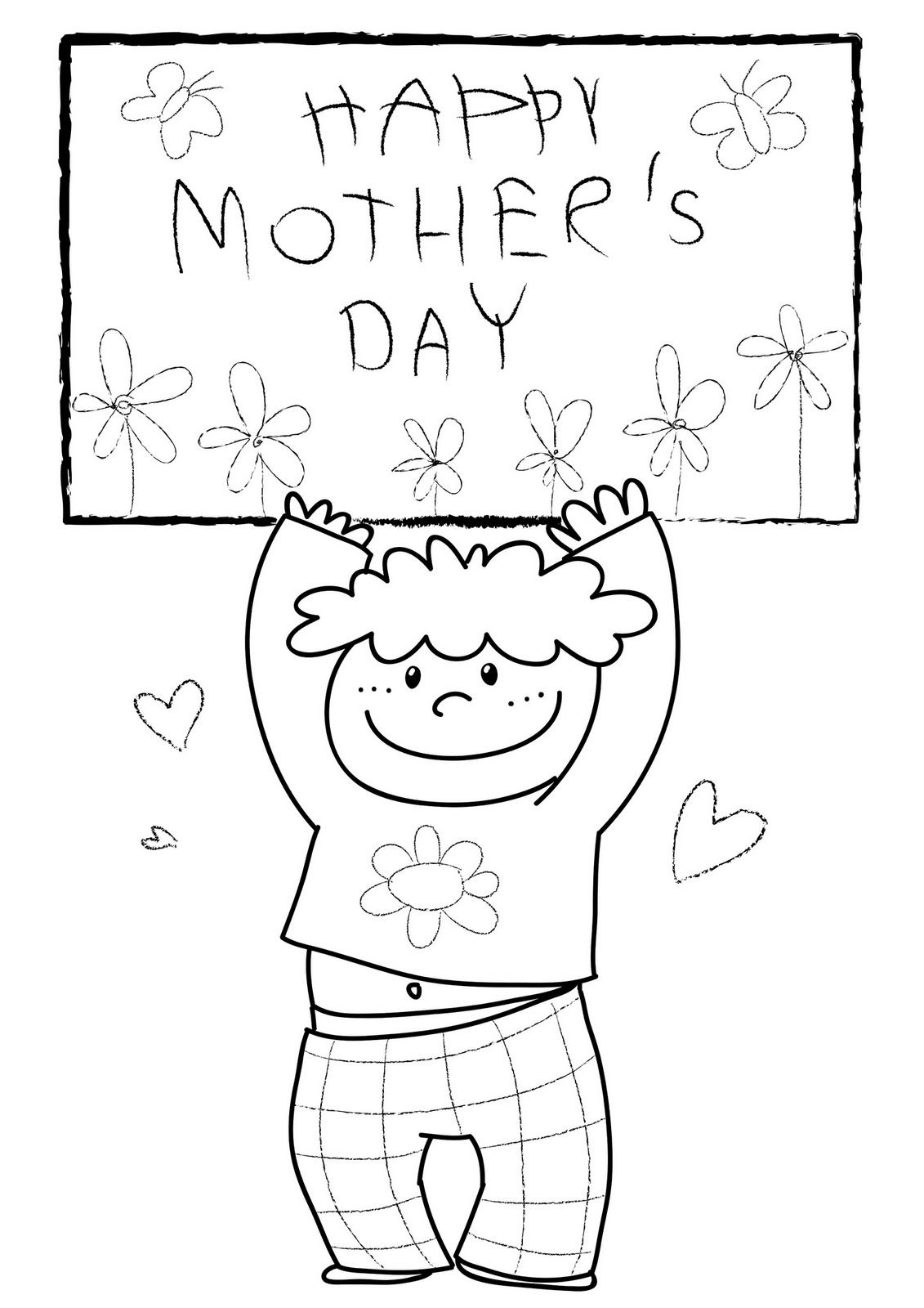 Childrens fathers day coloring pages - Mothers Day Coloring Pages For Children Kids Toddlers Happy Mothers
