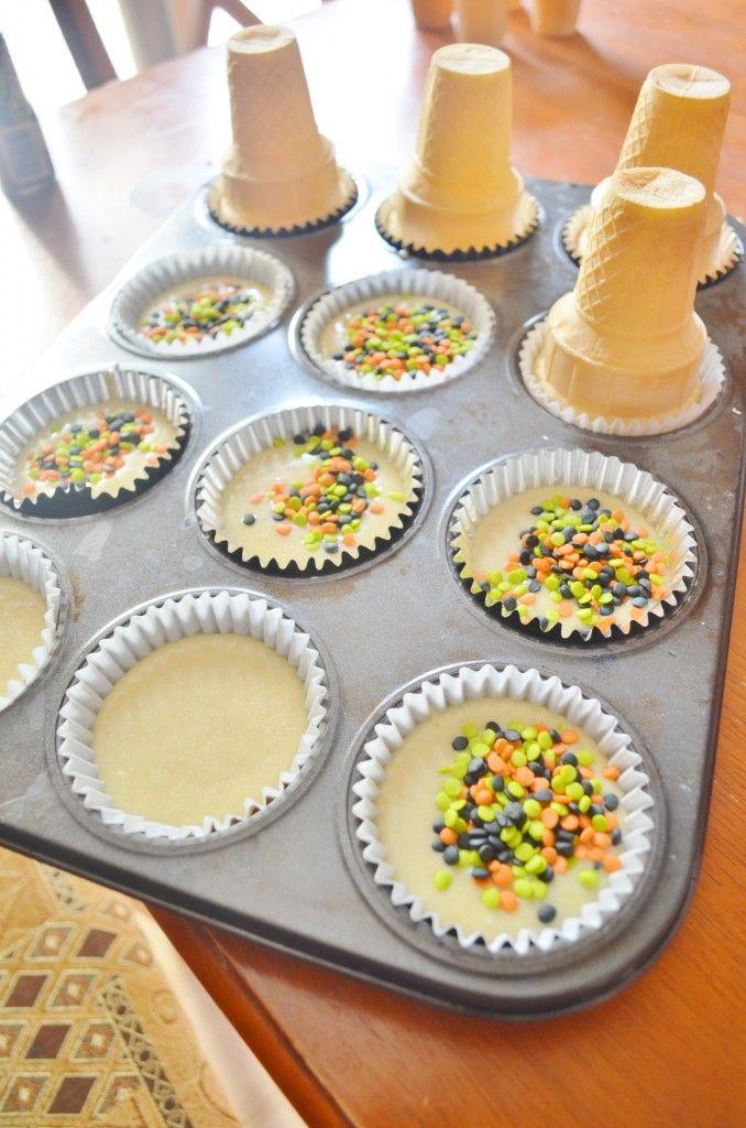 Easy Celebration Birthday Cupcake Cones Tutorial Kids Birthday