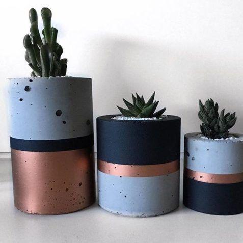 Comment faire un vase en ciment: modèles étape par étape et 20 belles inspirations   – D.I.Y & Handmade