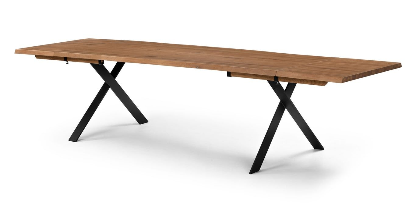 Festa Oak Dining Table Extendable Midcentury Modern Dining