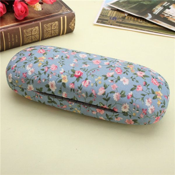 ad99d15fe6b New Hard Glasses Cases Floral Reading Glasses Storage Spectacle Glasses Case