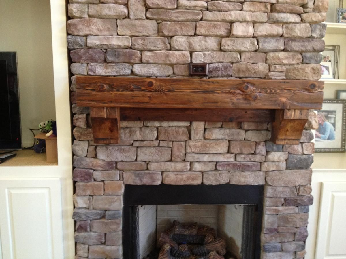 Fresco Of Cedar Mantel Beautiful Accent Both To Cover And Trim