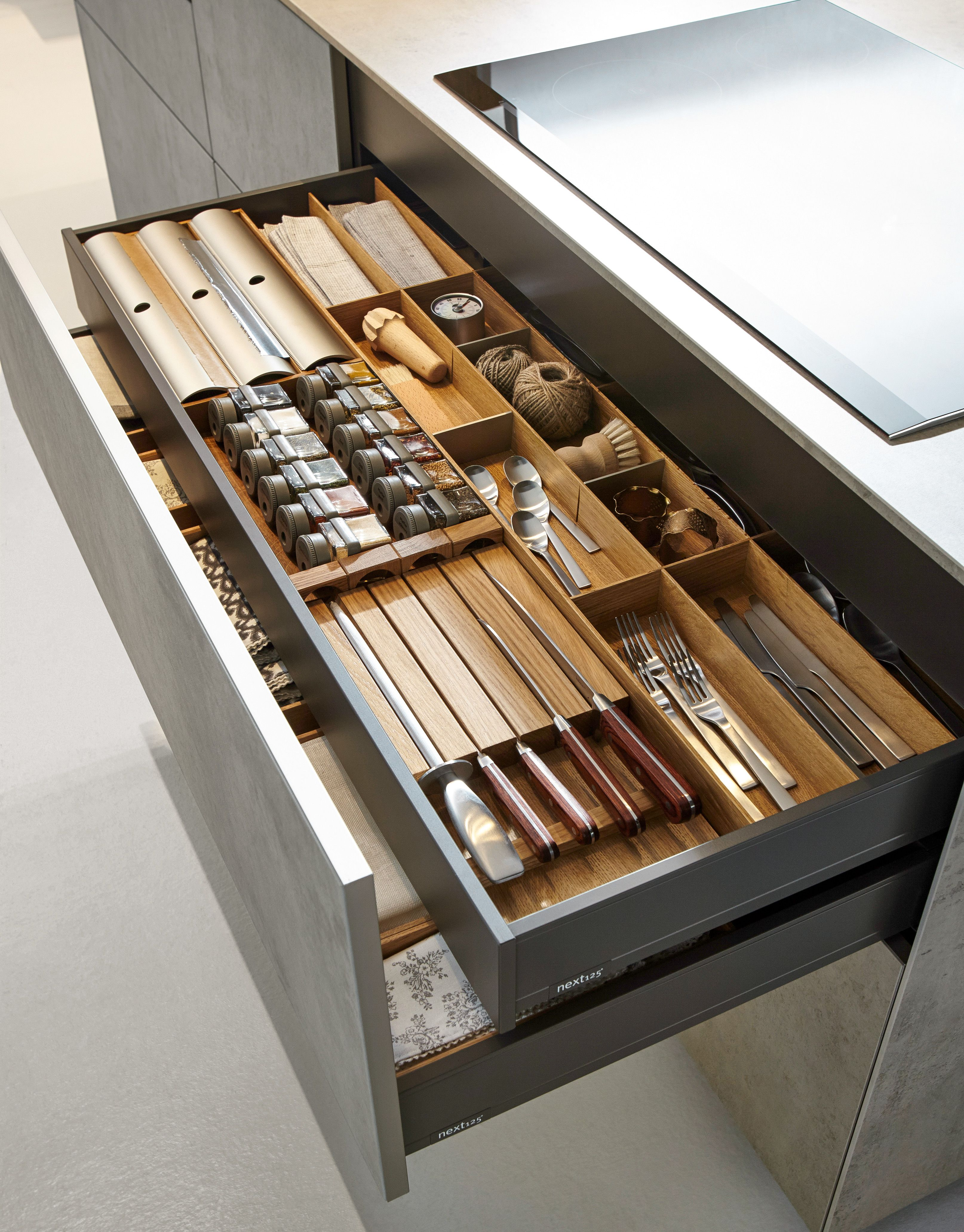 Best Schuller Internal Drawer And Oak Cutlery Tray Artisan 400 x 300