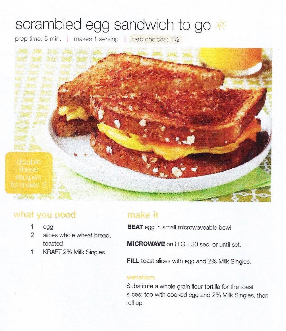 Scrambled egg sandwich to go.