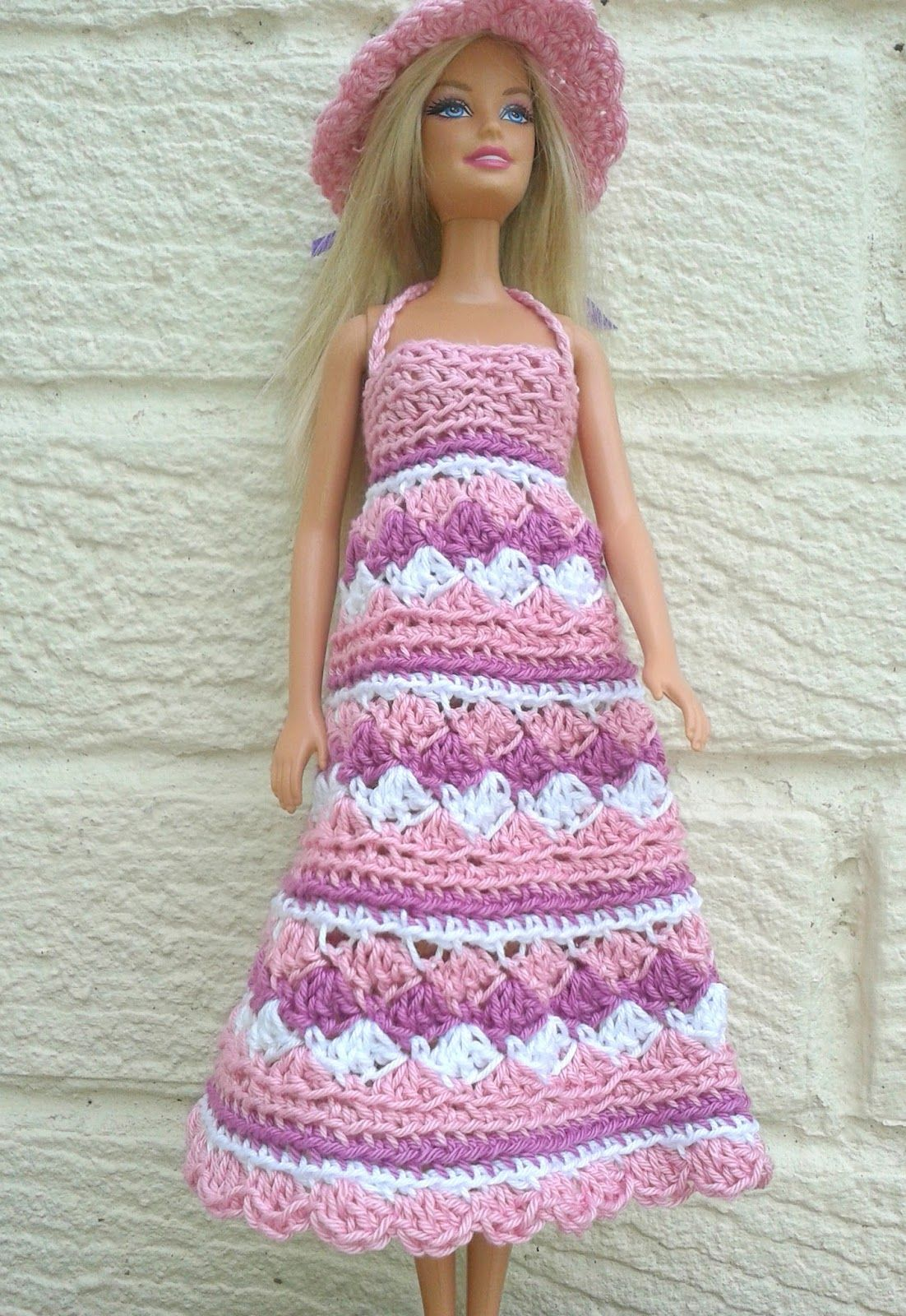 The pattern is for a dress for barbie worked in continuous rounds crochet doll clothes the pattern is for a dress for barbie worked in continuous rounds from the top down bankloansurffo Choice Image