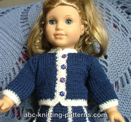 Free Knitting Pattern American Girl And Doll Cardigans From The