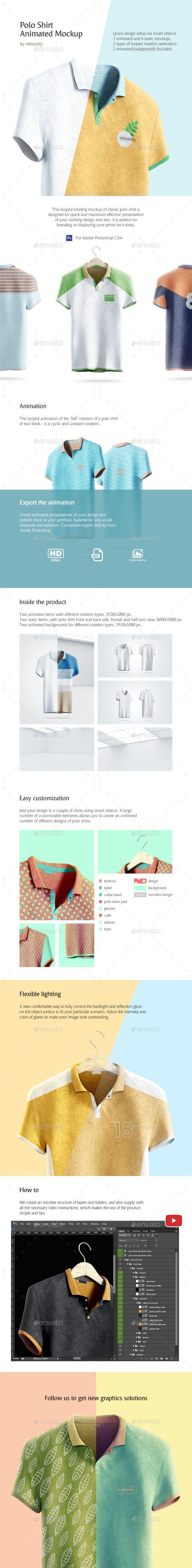 Download Polo Shirt Animated Mockup Mockup Clothing Mockup Mockup Design