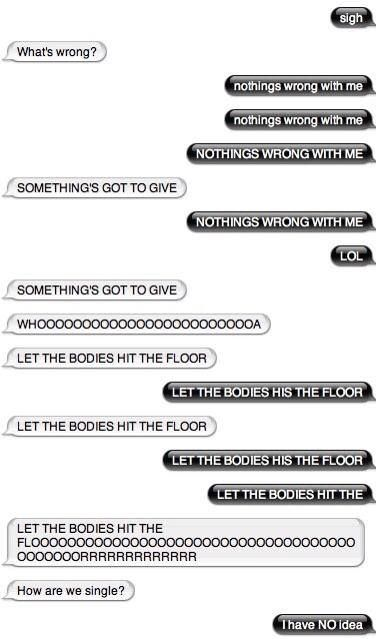 Let The Bodies Hit The Floor Awesome Convo Band Humor Let It Be Life Humor