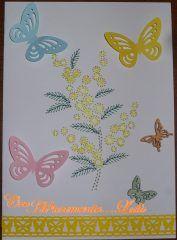 Card primaverile con mimosa | Blog di...