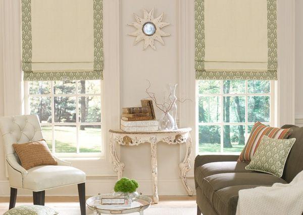 moderne raffrollos fürs wohnzimmer fenster | Projekt Traumhaus ...