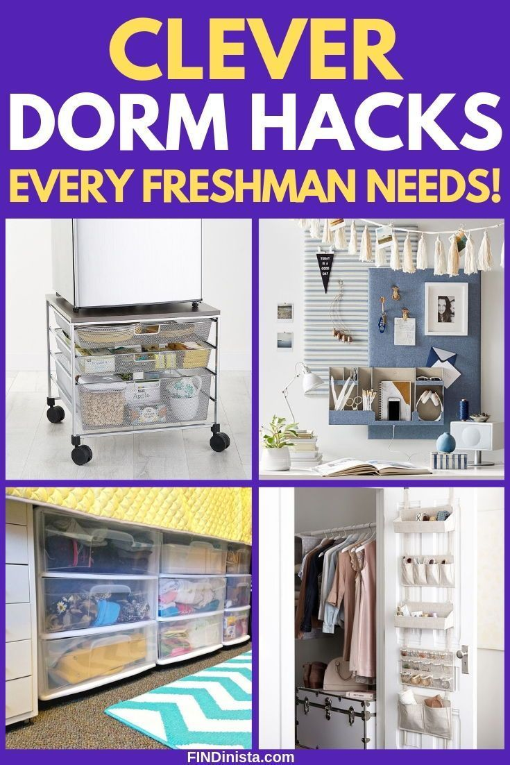 Dorm Room Organization - Great Hacks for Organizing a College Dorm Room #dormroomideasforguys Dorm Room Organization Hacks - Wondering how to keep everything organized in your freshman dorm room?  Get answers with these handy dorm room organization ideas for guys and gals!  #FINDinista #dormroom #collegelife #organizingdormrooms Dorm Room Organization - Great Hacks for Organizing a College Dorm Room #dormroomideasforguys Dorm Room Organization Hacks - Wondering how to keep everything organized i #organizingdormrooms