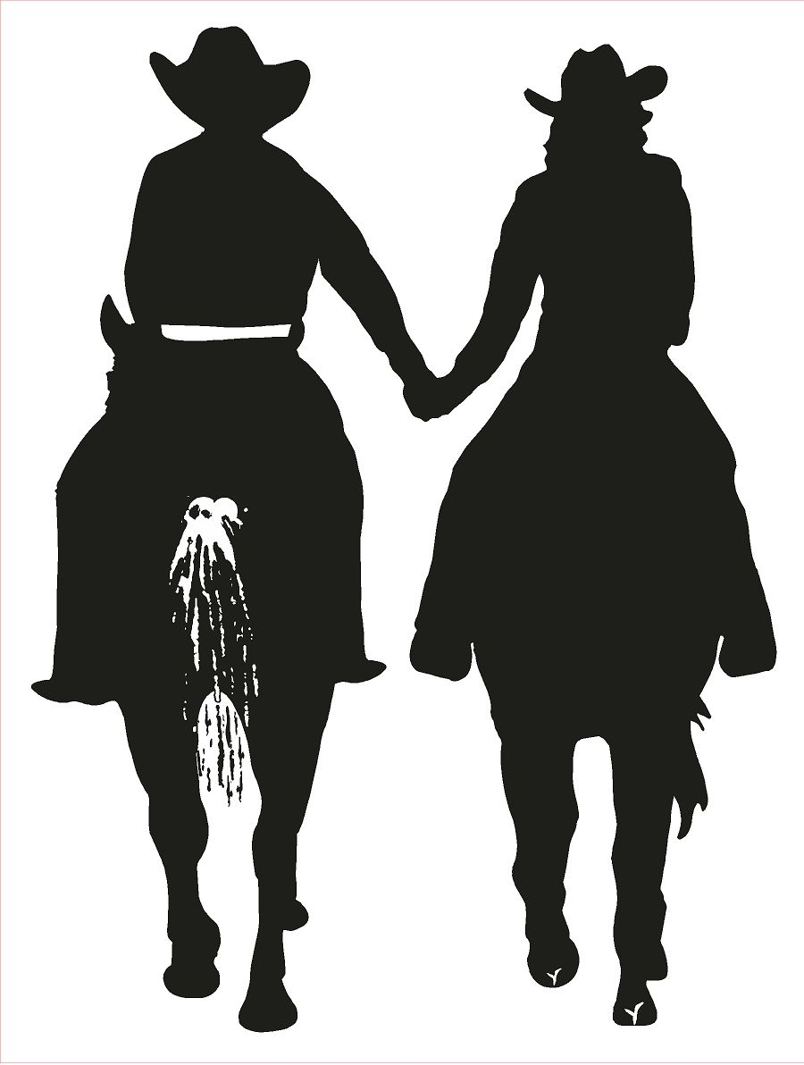 Cowgril Cowboy riding horses and holding hands. It\'s love! | Boots ...