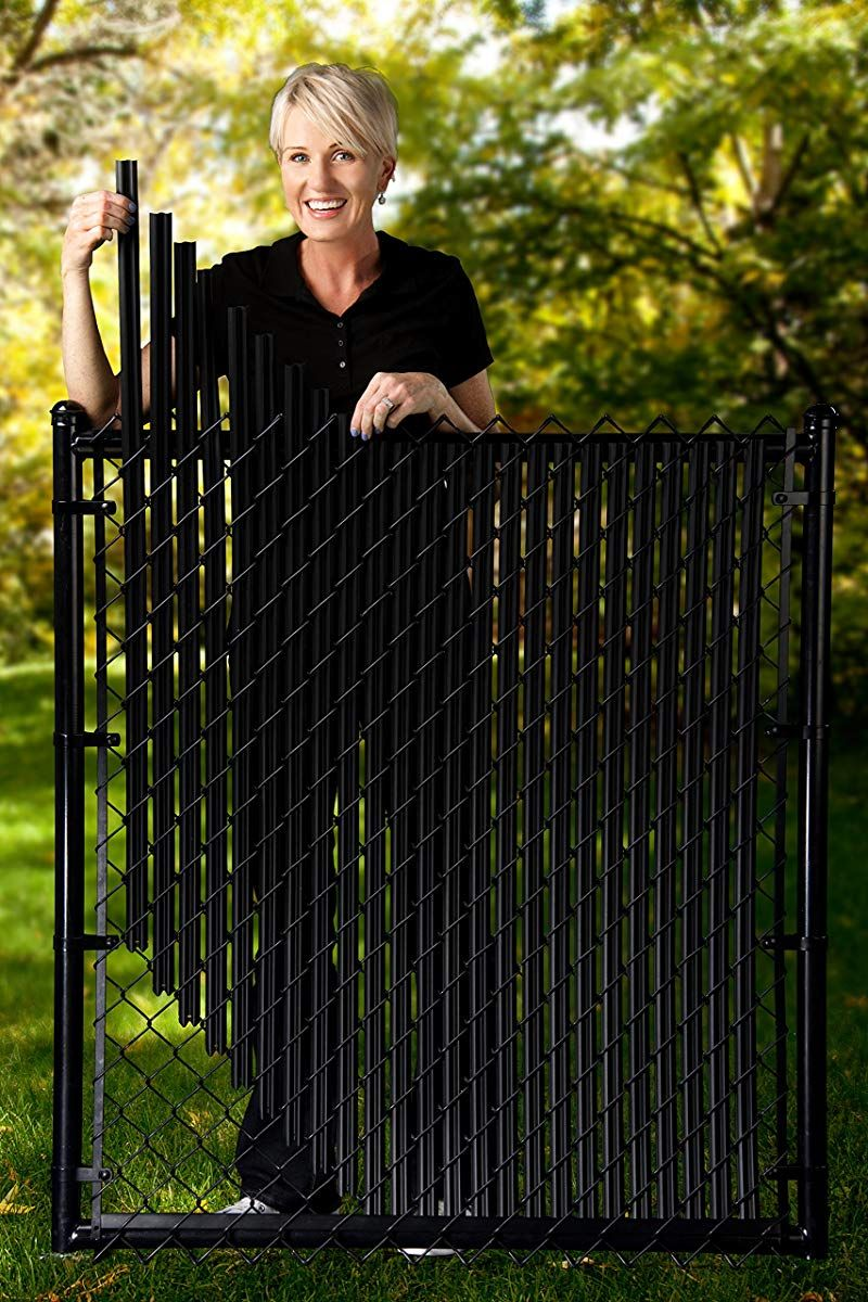 4ft Black Ridged Slats For Chain Link Fence In 2019 Painted Chain Link Fence Chain Link Fence