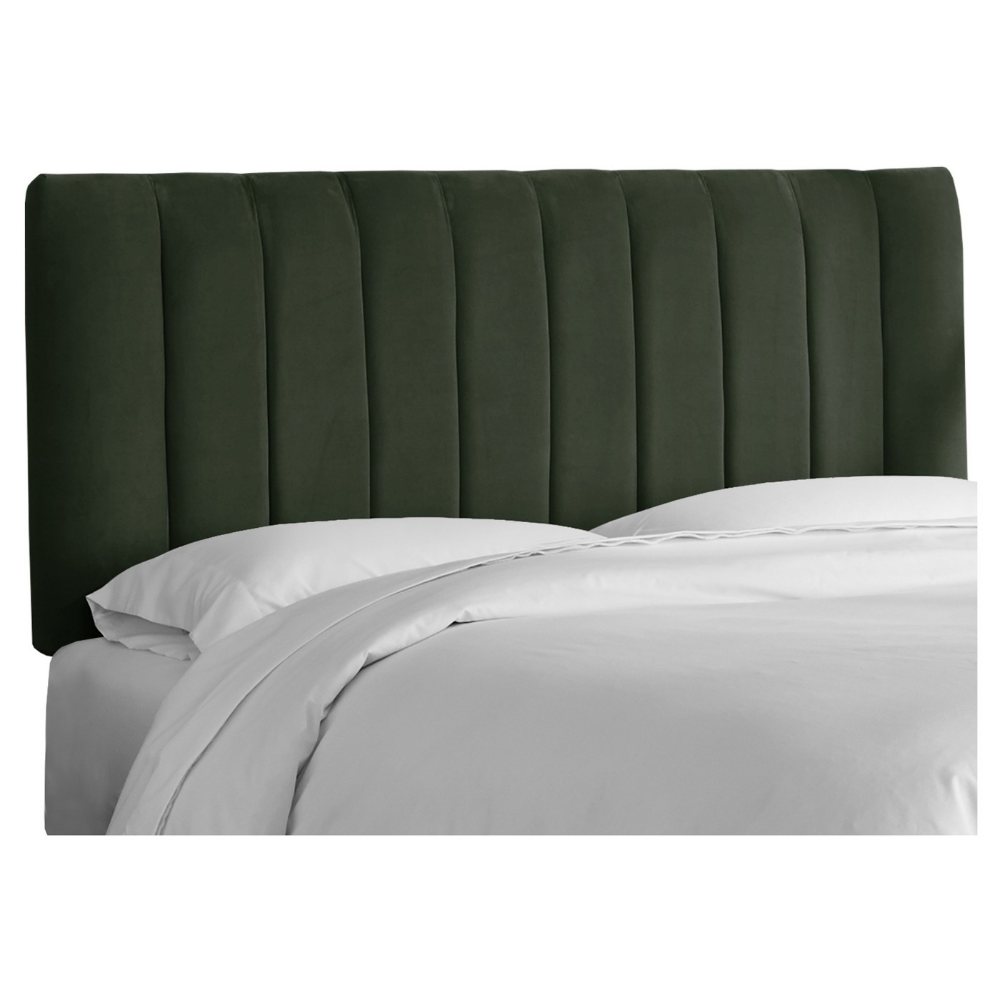 To DIY or Buy A Green Velvet Channel Headboard The