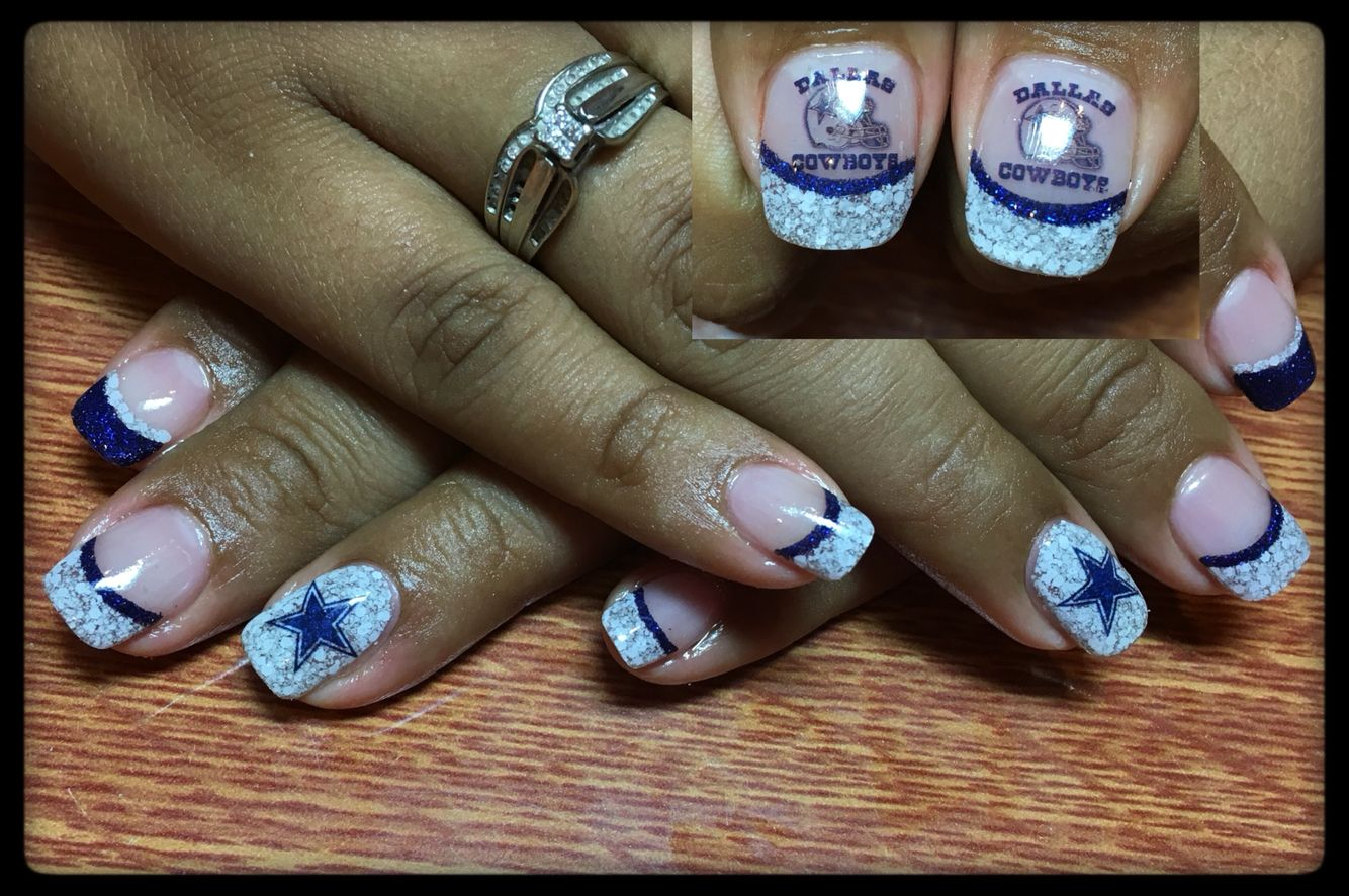 Dallas cowboys nails | My Nail Creations | Pinterest | Dallas ...