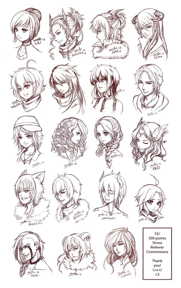 Inspiration Hair & Expressions Manga Art Drawing