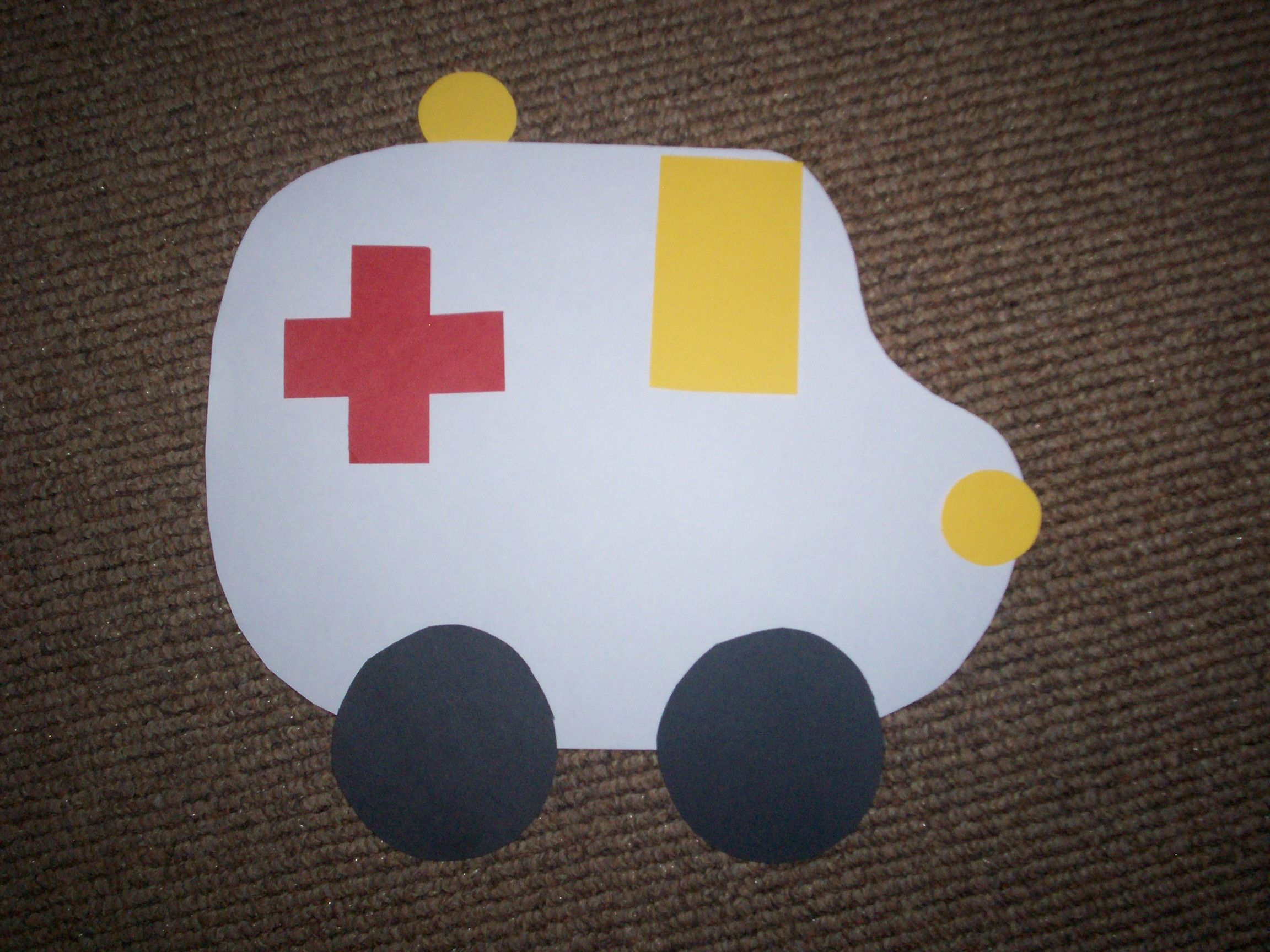 Ambulance Craft By Ladybug In Kindergarten This Is