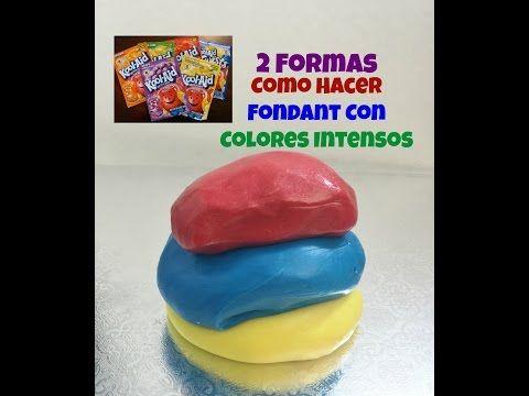 Fondant Con Colores Intensos Muy Facil De Hacer! - YouTube