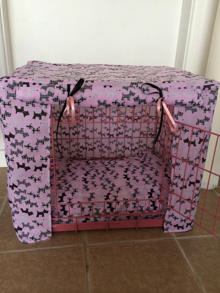 PUPPY CRATE CAGE COVER MADE TO MEASURE DOG