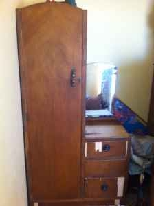 Antique Dresser/mirror/closet Combo   $100