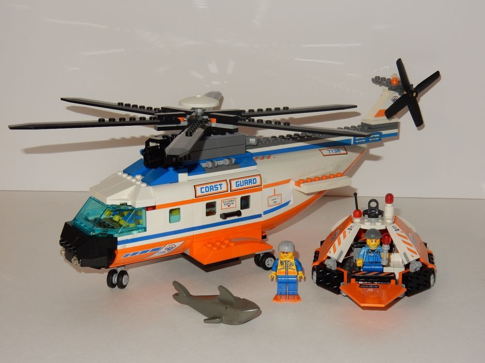 Lego City Coast Guard Rescue Helicopter Life Raft 7738 Wmanuals