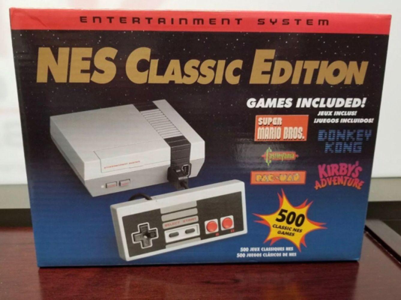 Nes Mini Classic Console 500 Games Built In Av 2 Controllers Retro