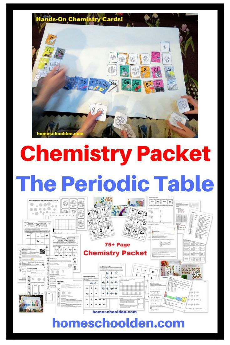 75+ Chemistry Packet to introduce kids to the Periodic ...