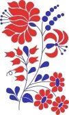 hungarian : Un colorido florecer motivo