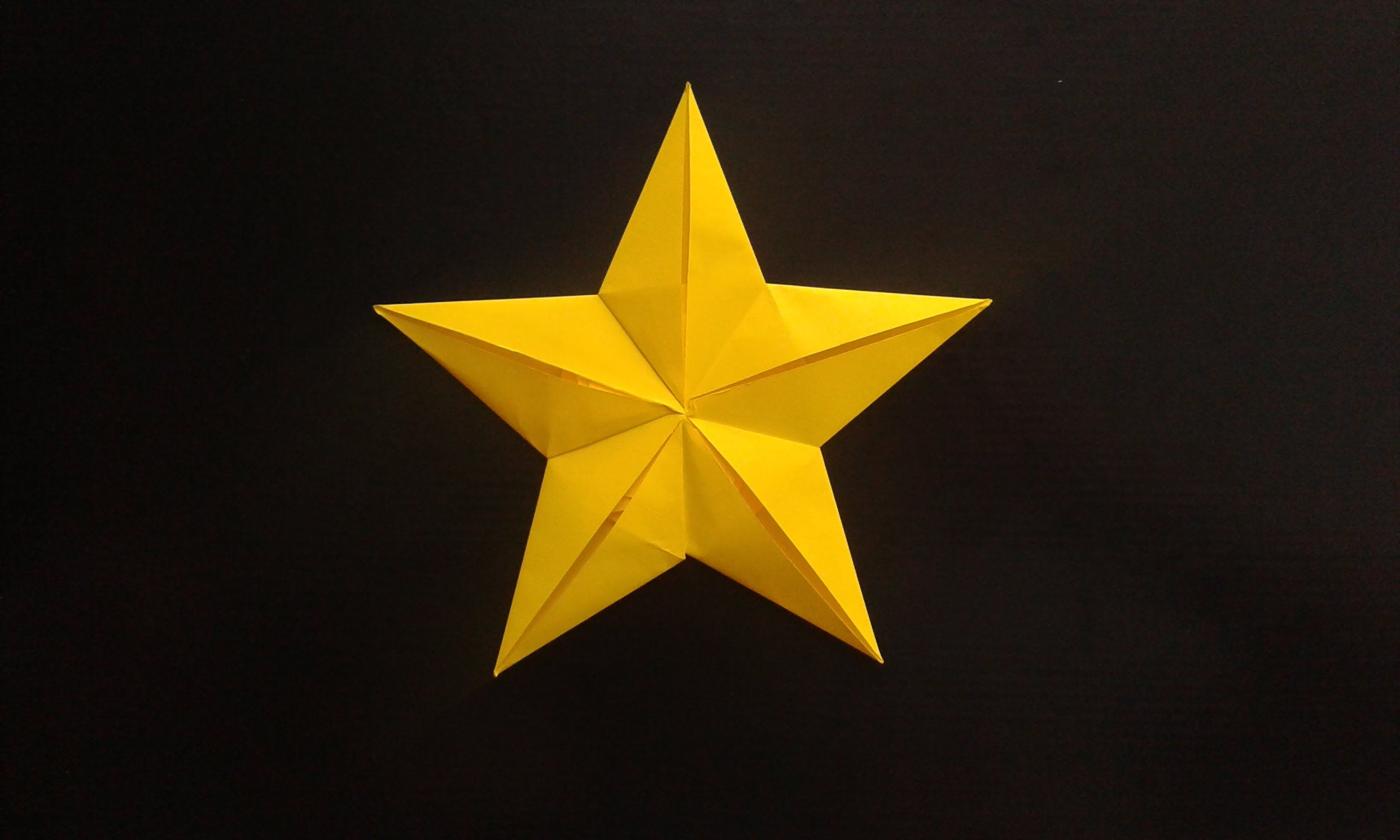 How To Make A Paper Pentagonal Star Origami