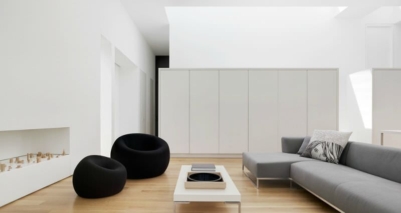 20 salas minimalistas para voc se inspirar sala for Que significa minimalista en decoracion