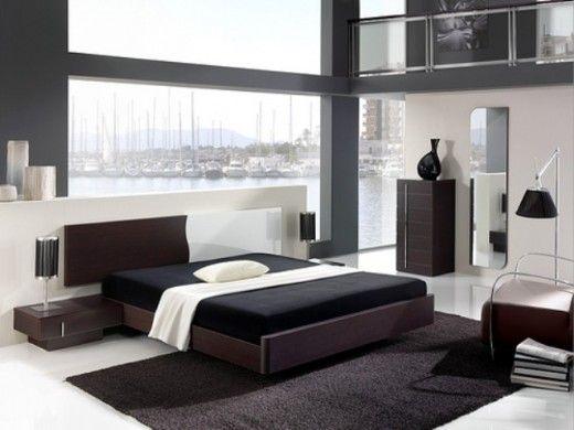 Dormitorio moderno en blanco y negro