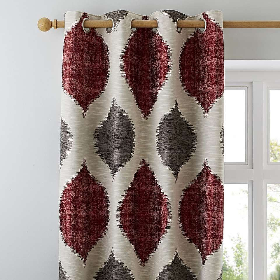 Morocco Red Eyelet Curtains In 2019 Curtains Curtains Dunelm